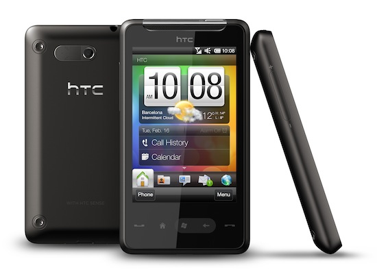 The HTC HD Mini, an intended Windows Phone 7 Device by HTC
