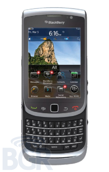 Details of the BlackBerry Torch 2 surfaces