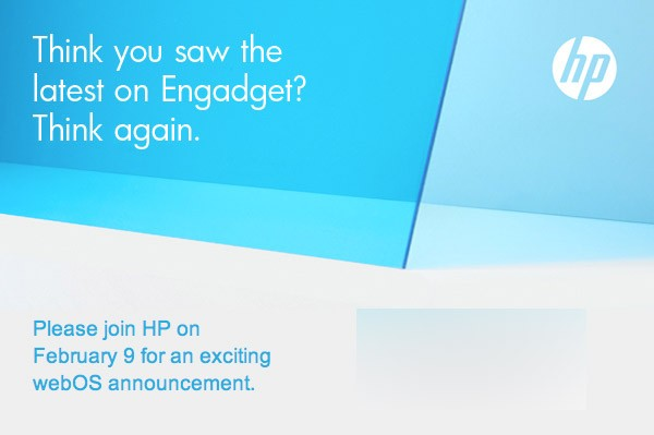 HP has a secret, exciting announcement for the February webOS event!