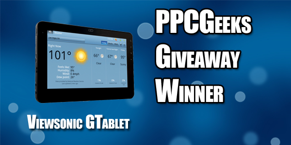And the Viewsonic gTablet Winner Is…