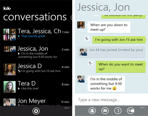 Windows Phone 7 + Kik = AWESOME!