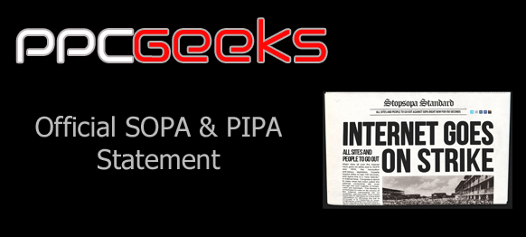 PPCGeeks Official SOPA Statement