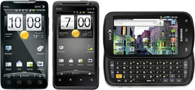 Sprint Updates Coming For HTC Evo 4G, HTC Design 4G, and Samsung Epic 4G