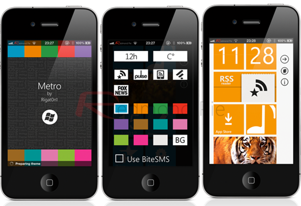 Make your (jailbroken) iPhone look and feel like WP7's Metro UI!