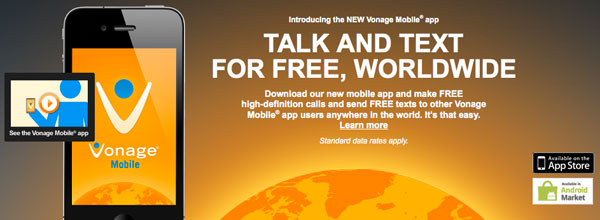Vonage Mobile App – Free Calls and Texts Worldwide For Android and iOS