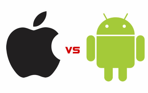 Androids numbers increase while Apples numbers decrease